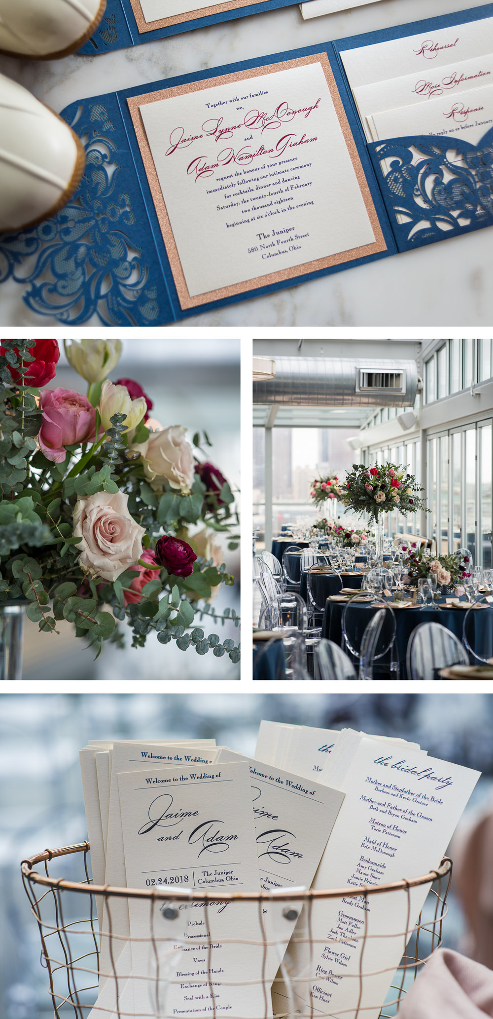 Brett Loves Elle, Columbus Wedding Photographers, Columbus Wedding Photography, Ohio Wedding, Juniper Rooftop Wedding, Vintage Glam Wedding Details