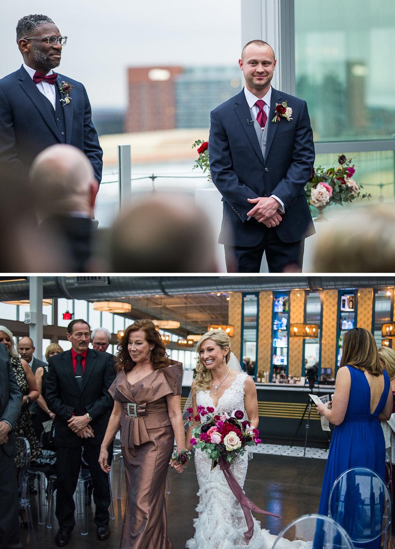 Brett Loves Elle, Columbus Wedding Photographers, Columbus Wedding Photography, Ohio Wedding, Juniper Rooftop Wedding Ceremony, Vintage Glam Wedding
