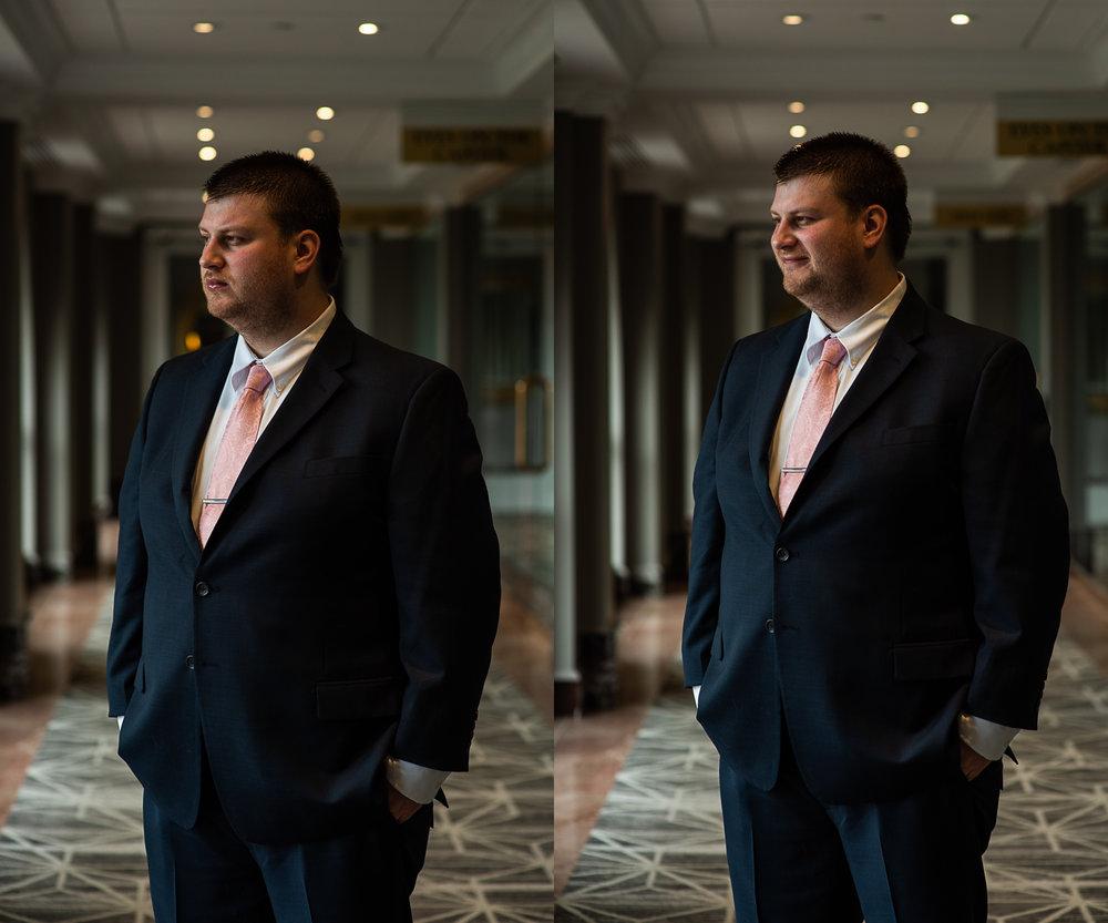 Brett Loves Elle Photography, Columbus Wedding Photographers, Ohio Wedding Photography, Wedding Day Groom Portrait