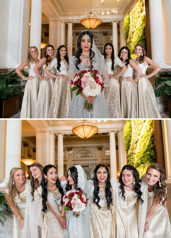 Brett Loves Elle Photography, Columbus Wedding Photographers, The Westin Indian Wedding, Bridesmaids
