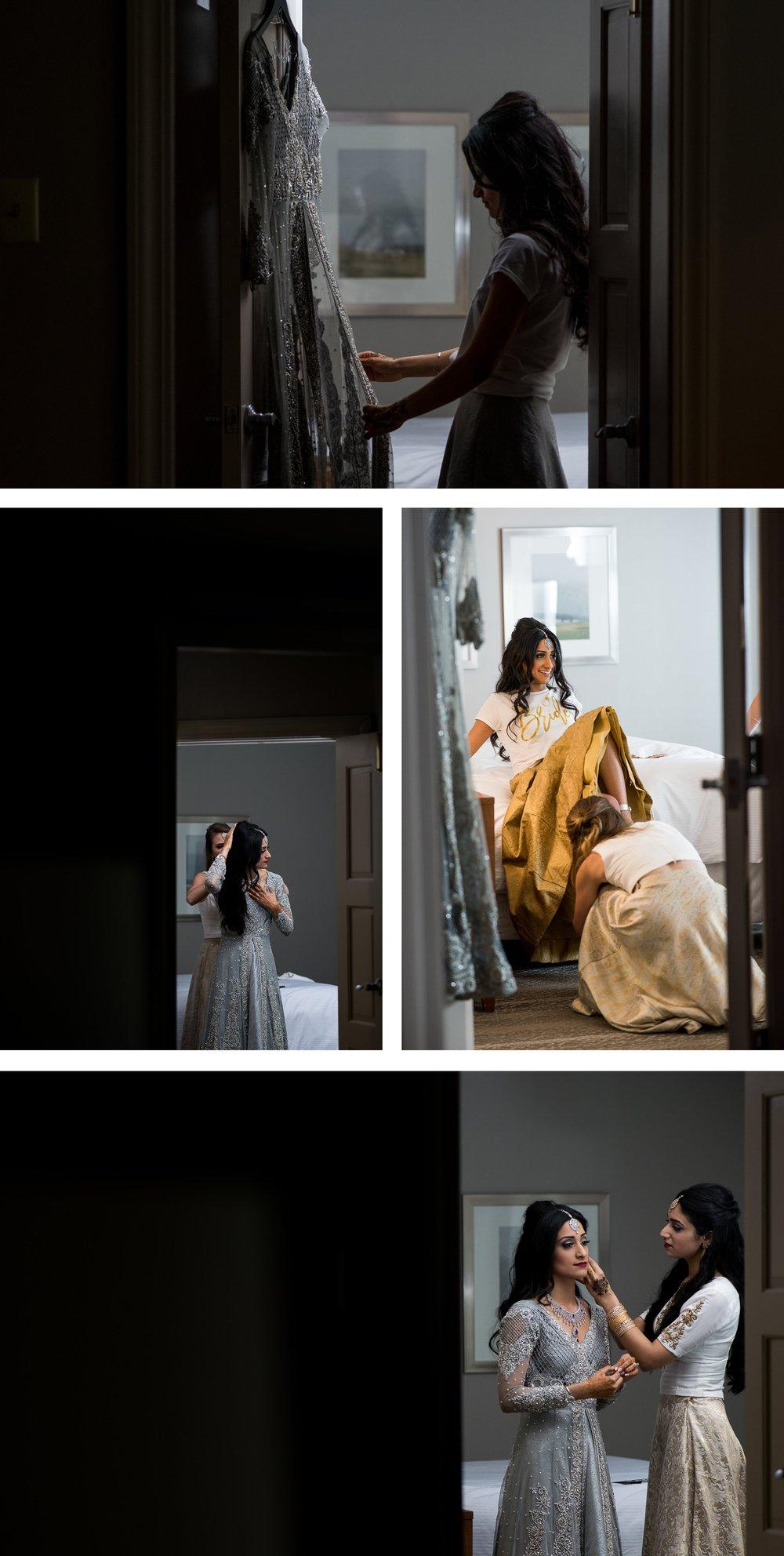 Indian bride Getting Ready at the Westin Columbus. . Brett Loves Elle Photography, Columbus Wedding Photographers.