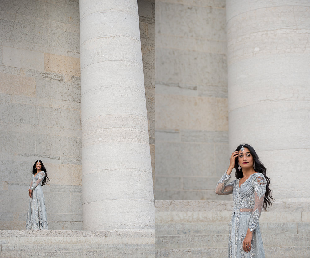 Indian Bridal Portrait at the Ohio StateHouse. . Brett Loves Elle Photography, Columbus Wedding Photographers.