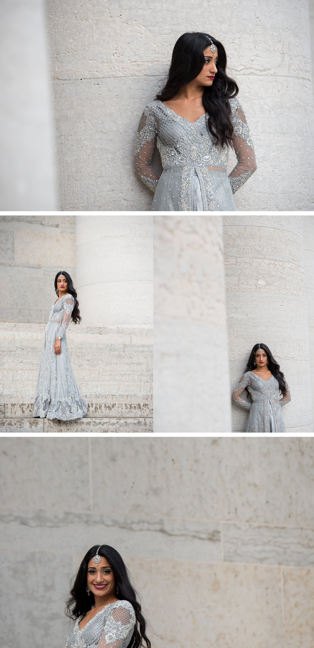 High Fashion Indian Bride Portrait at the Ohio StateHouse. . Brett Loves Elle Photography, Columbus Wedding Photographers.