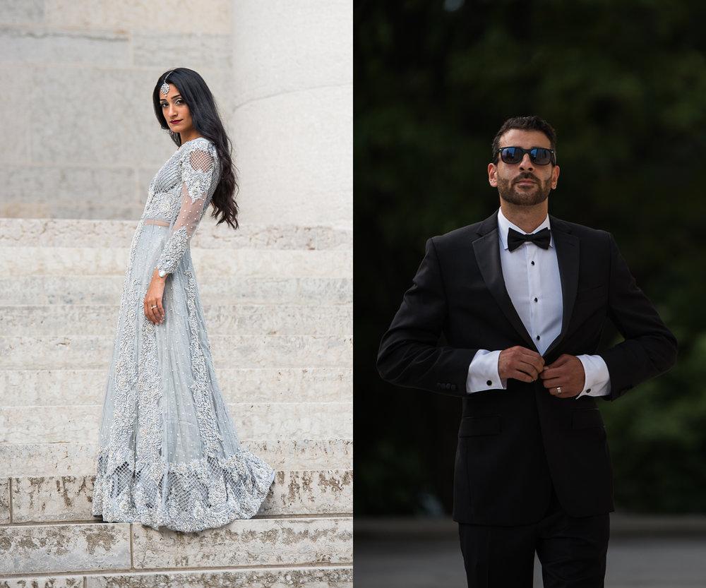 Brett Loves Elle Photography, Columbus Wedding Photographers, High Fashion Wedding Couple
