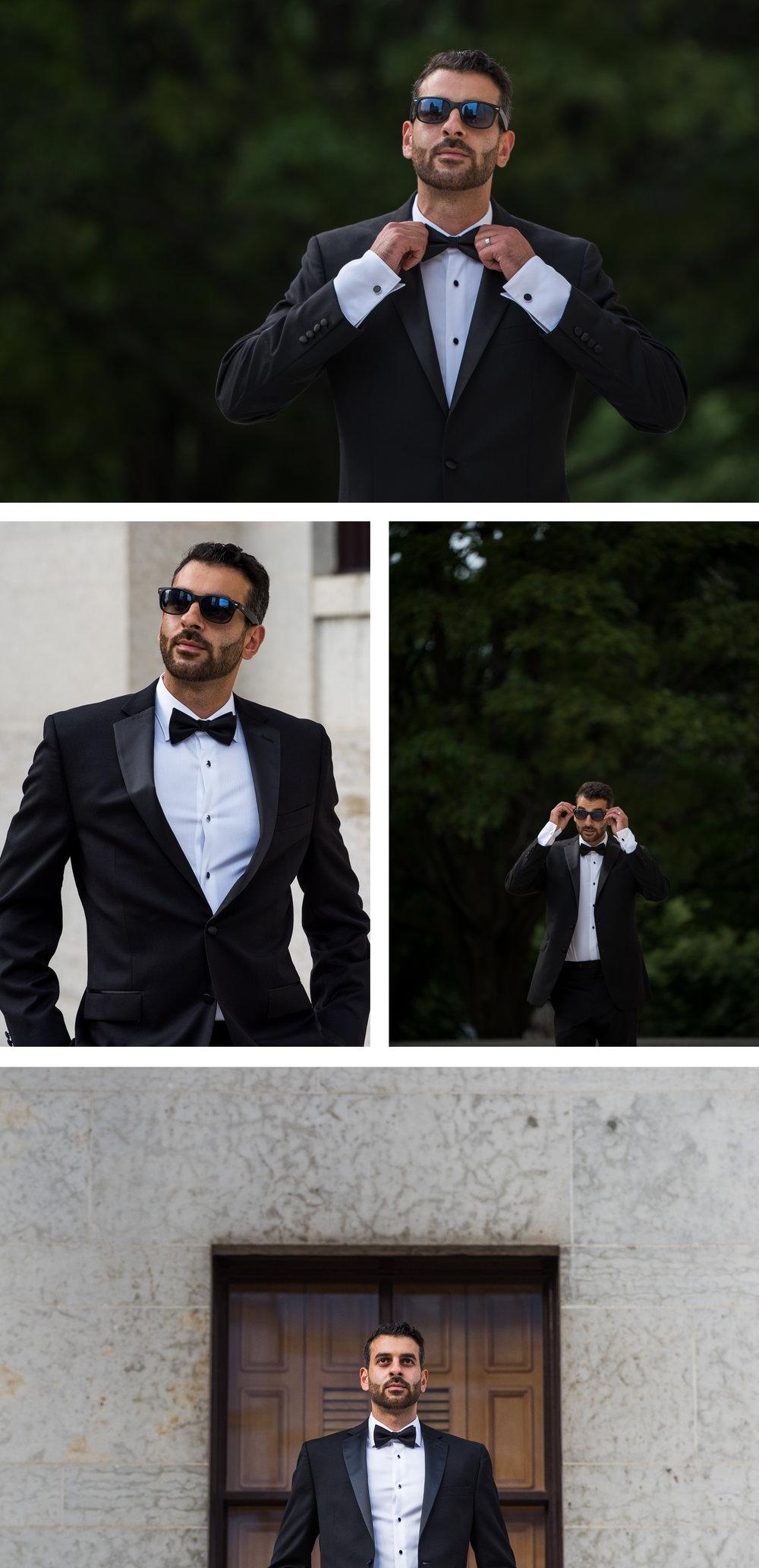 High Fashion Groom Portrait at the Ohio StateHouse. Brett Loves Elle Photography, Columbus Wedding Photographers.