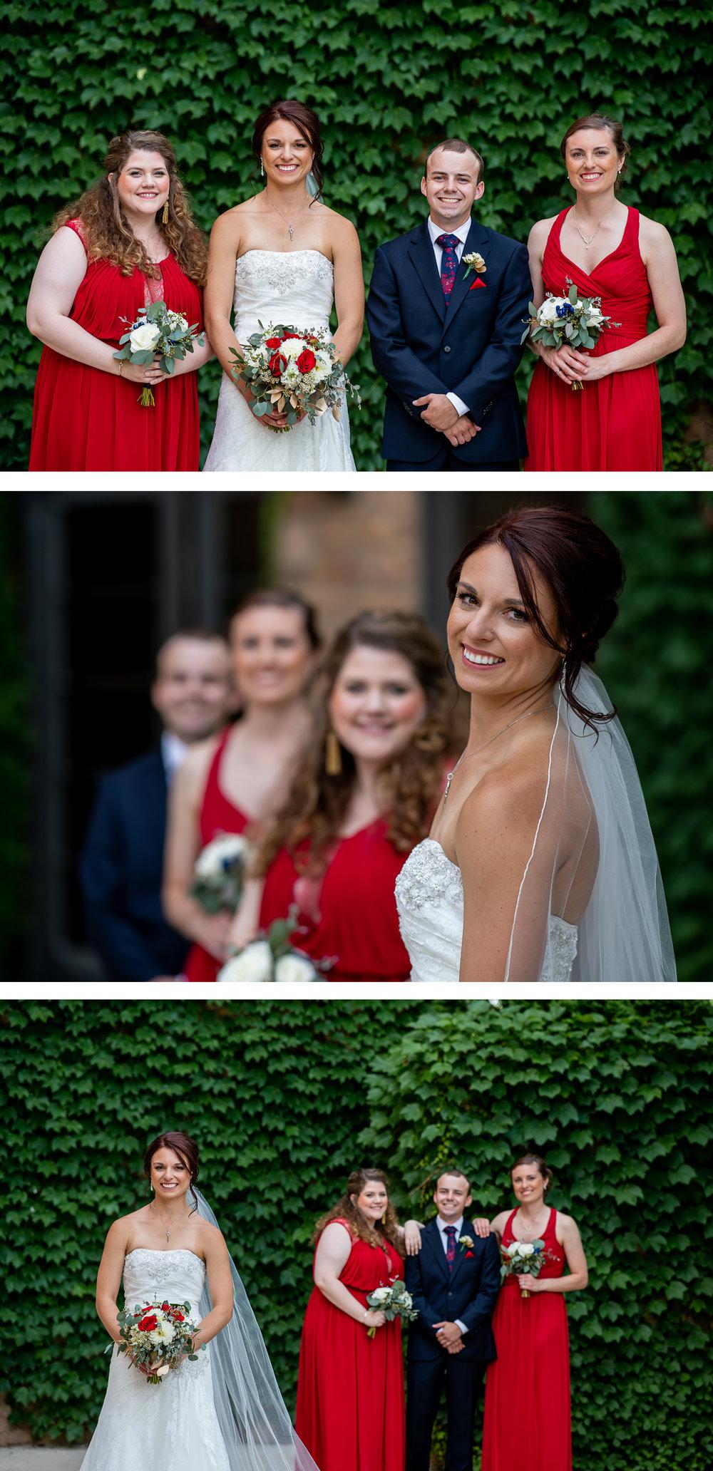 Brett Loves Elle Photography, Columbus Wedding Photographers, Ohio Wedding Photography, Wedding Day Bridal Party Portrait