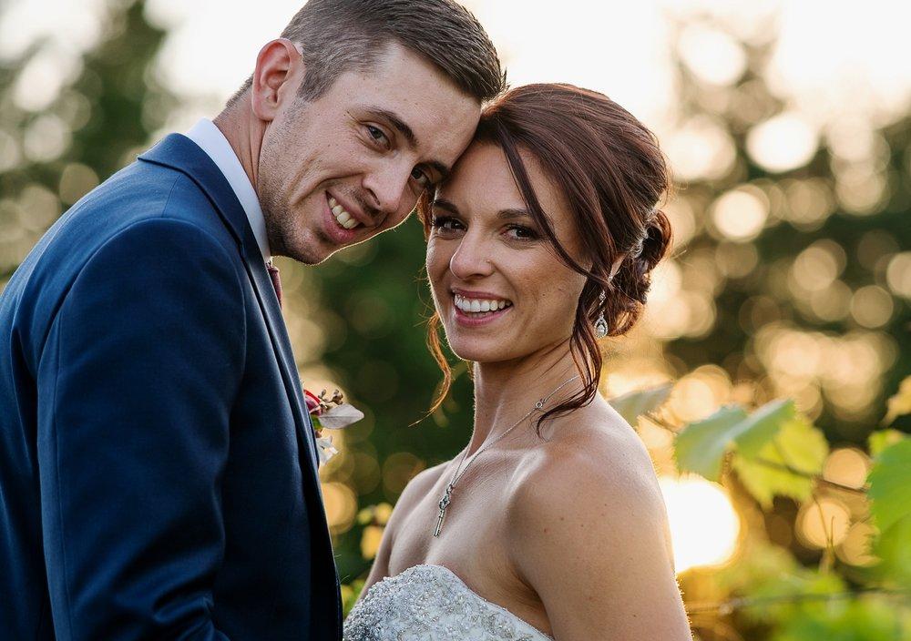 Golden Hour Bride and Groom Portrait By Brett Loves Elle Photography, Columbus Wedding Photographers, Ohio Wedding Photography