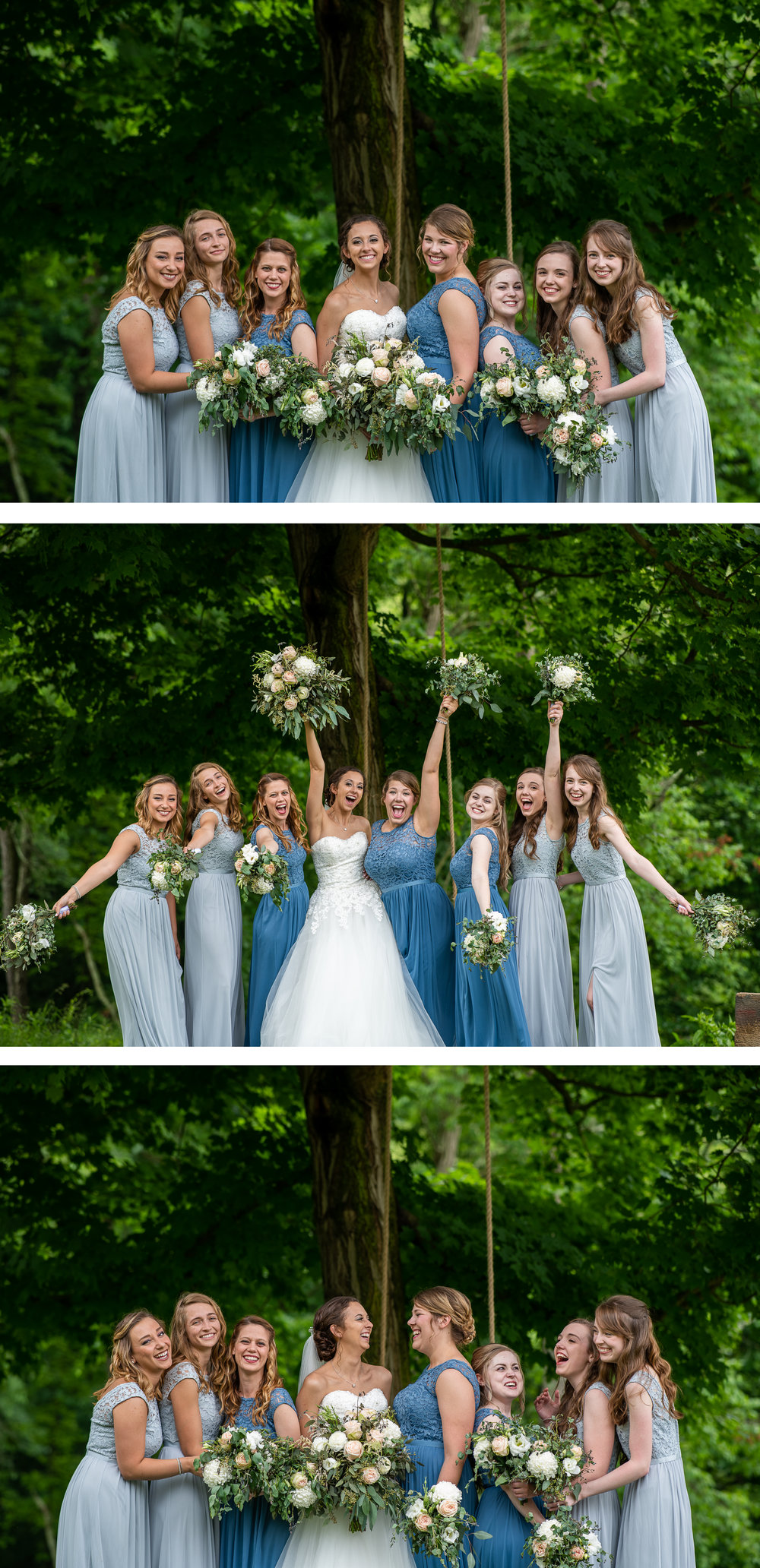 Brett Loves Elle Photography, Columbus Wedding Photographers, Ohio Wedding Photography, Wedding Day Bridesmaids Portrait