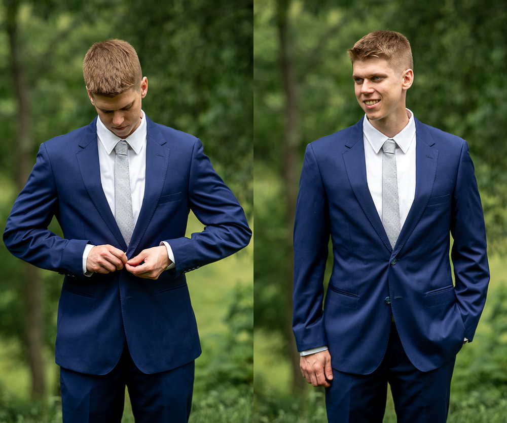 Brett Loves Elle Photography, Columbus Wedding Photographers, Ohio Wedding Photography, Wedding Day Groom Portrait