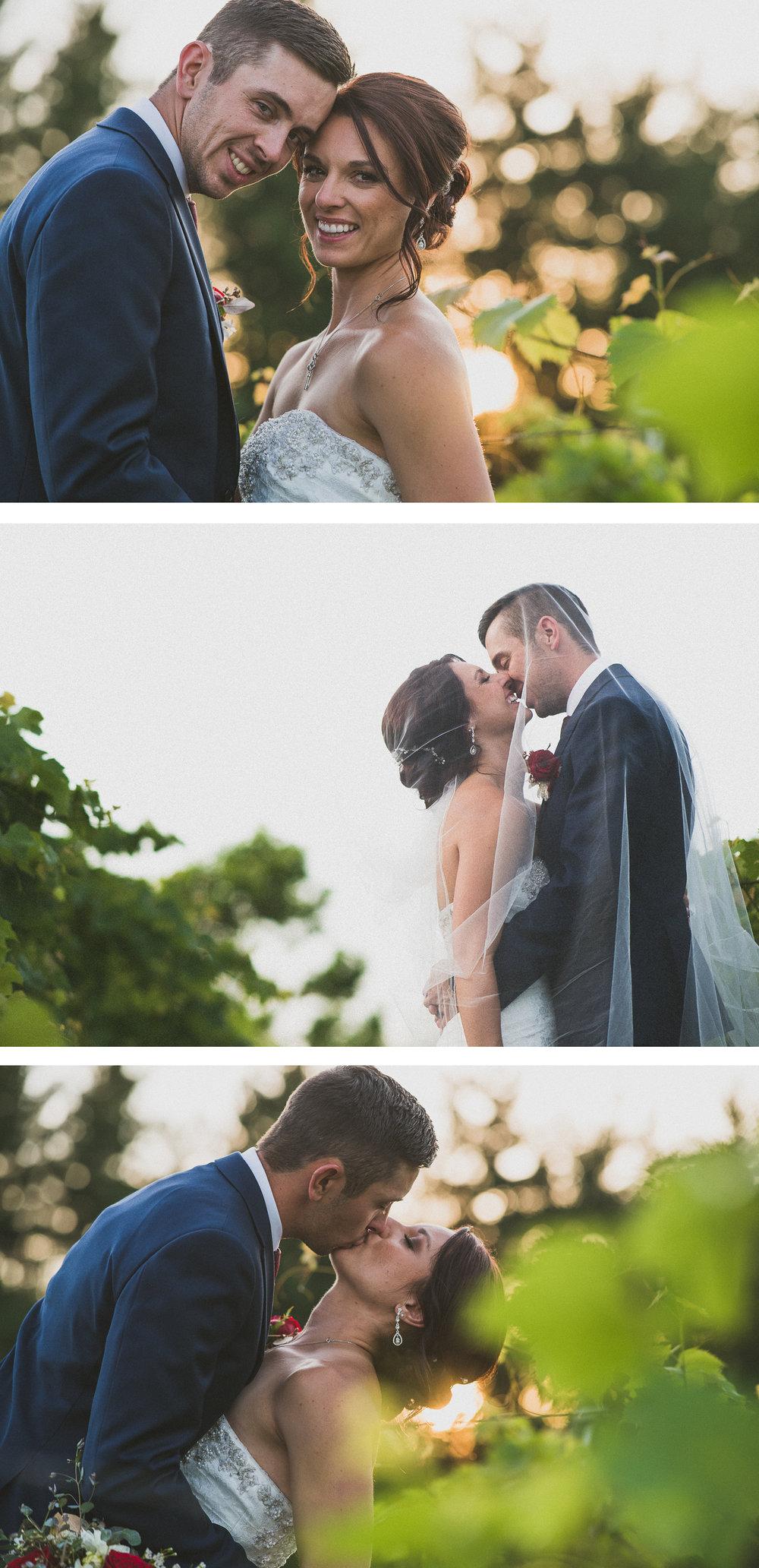 Summer Golden Hour Bride and Groom Portrait By Brett Loves Elle Photography, Columbus Wedding Photographers, Ohio Wedding Photography