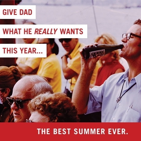 Artwork for Father's Day email campaign featuring an original photograph from the Vintage Slide Collection.