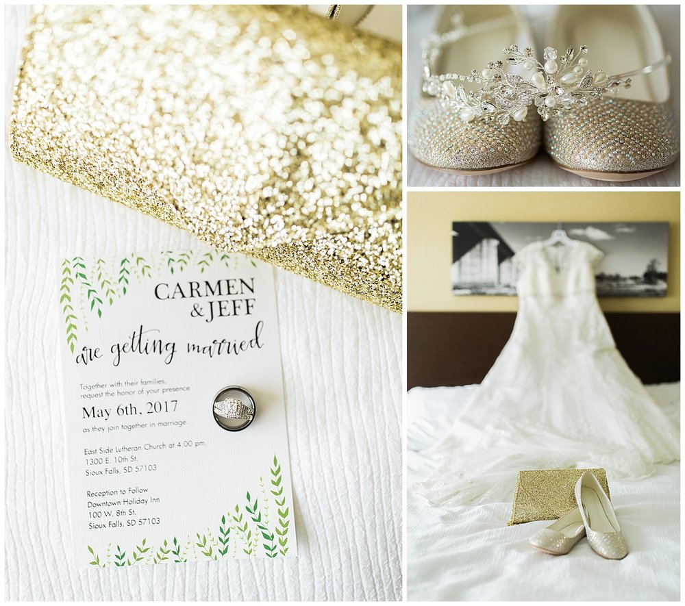 Carmen Jeff Holiday Inn Downtown Sioux Falls Wedding Photographer C Herrboldt Photography
