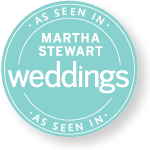 MARTHA STEWARD WEDDINGS BADGE