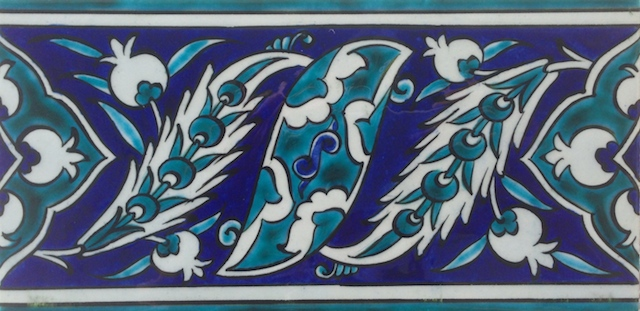 NAR border scroll / single tile / 20 x 10cm