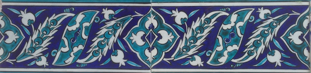 NAR border scroll / two tiles / 40 x 10cm