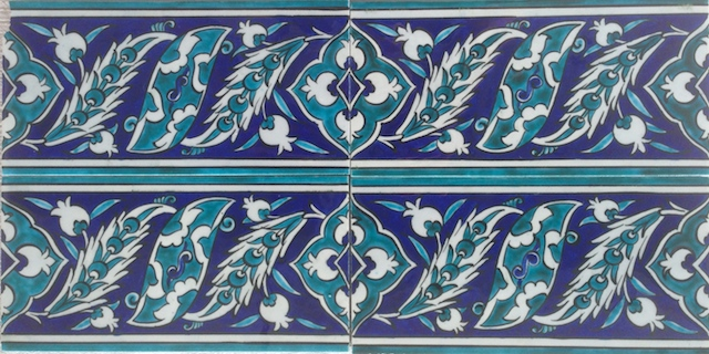 NAR border scroll / two tiles x two tiles / 40 x 20cm