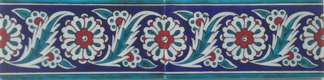 PAPATYA border scroll / two tiles / 40 x 10cm