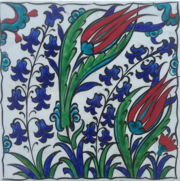 CAMPANULA  / single tile / 15 x 15 cm