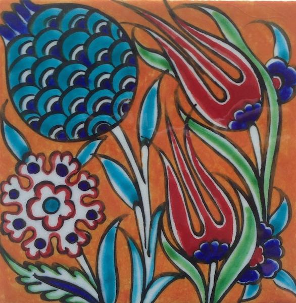 ZEYNEP / Marigold / single tile / 10 x 10 cm