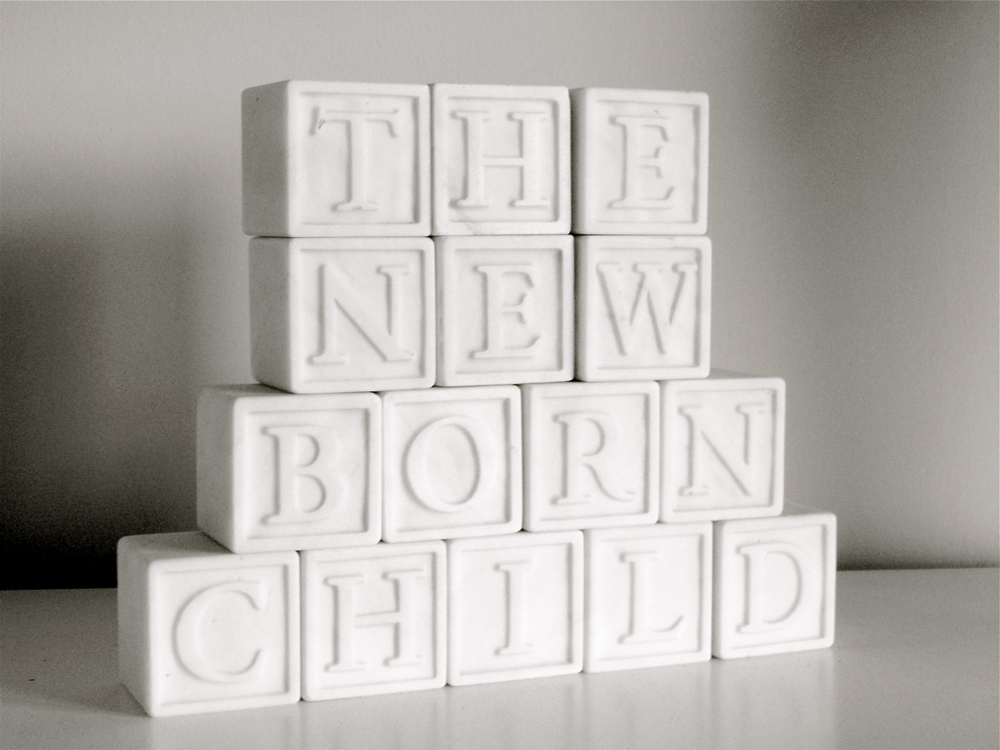 The Newborn Child (Marble Blocks) 6cm x 44cm x 6cm 2005
