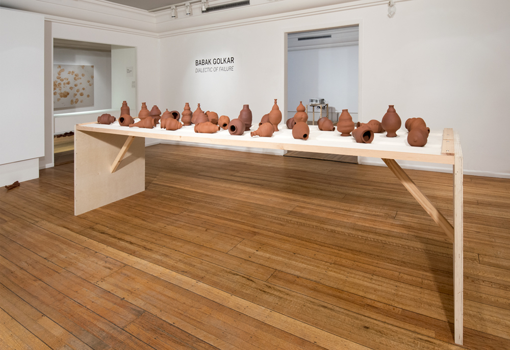 Babak Golkar's Scream Pots asks us to both act and reflect on the pressures of contemporary life and the ways in which we do or do not deal with them.  Photo: SCOTT MASSEY