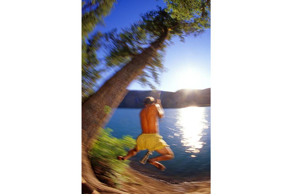 Rope swingin' in Southwest Montana.  Refreshing!