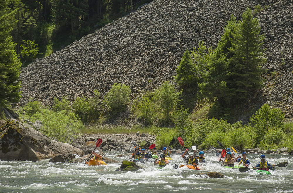 Nothing like a down river kayak race to beat the heat at the Gallatin Whitewater Festival.