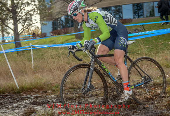 Kristal in mud. This was rideable in the early races but became a run later. And provided much amusement as there were many crashes in this area.