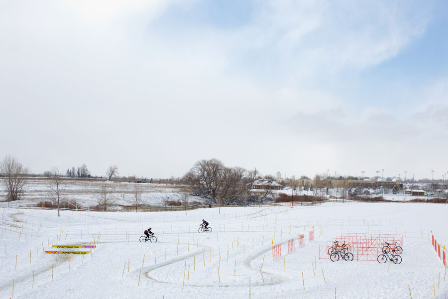 Altitude Adjustment: A beautiful snowy day…perfect for CX! Photo: Bo Bickerstaff