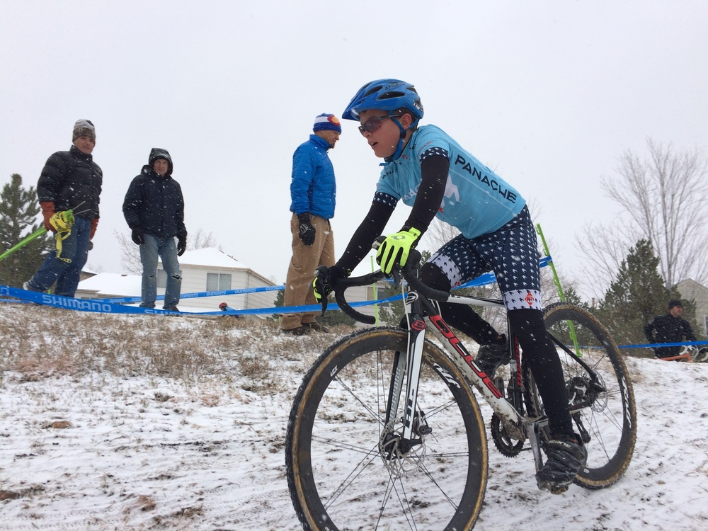 Heading for the win at SOCO Littleton CX