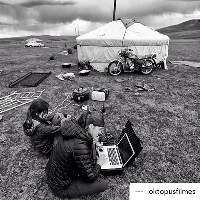 • @oktopusfilmes |  Missing  the outdoors! Our photographer @jessicanolte_photo working with a generator in the middle of the Mongolian plains. . . . #mongolia #ger #oktopusfilmes #cinematography #documentary #documentaryfilm #storytelling #canoncinema #canon5d