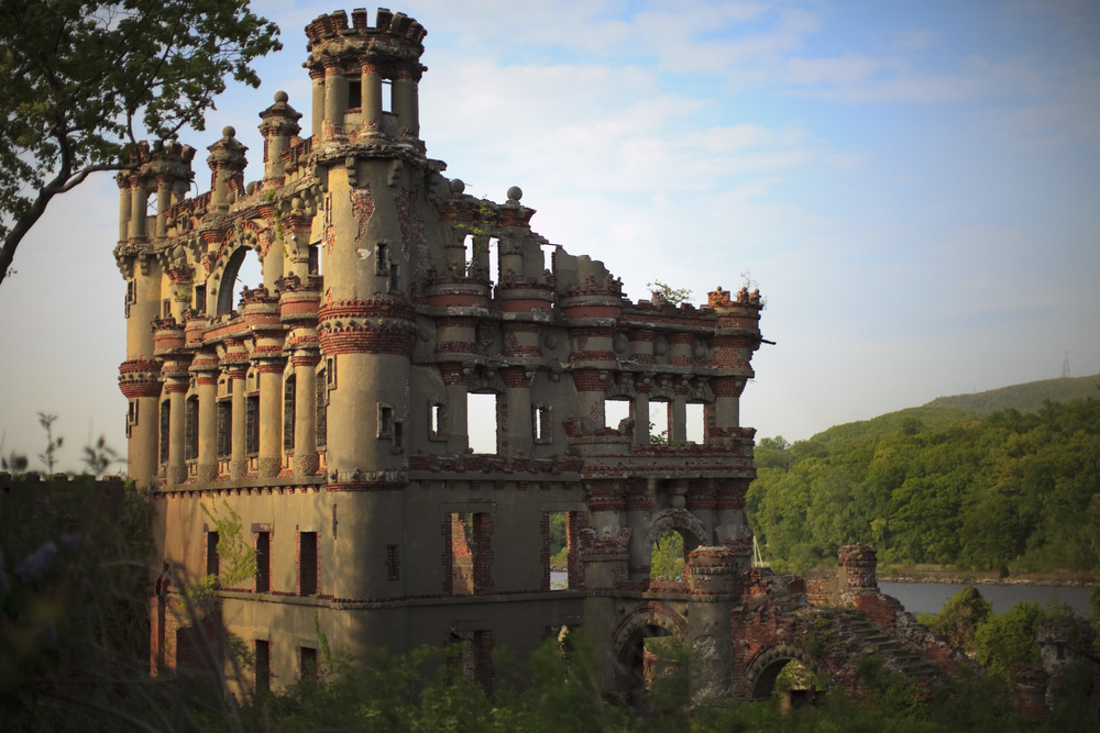 Bannerman's Castle near Beacon, NY is still standing after a 1969 fire destroyed structural support beams.