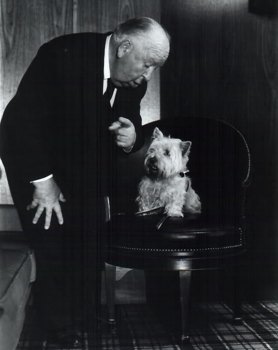 fuckyeahdogs :   Alfred Hitchcock and his terrier, Sarah