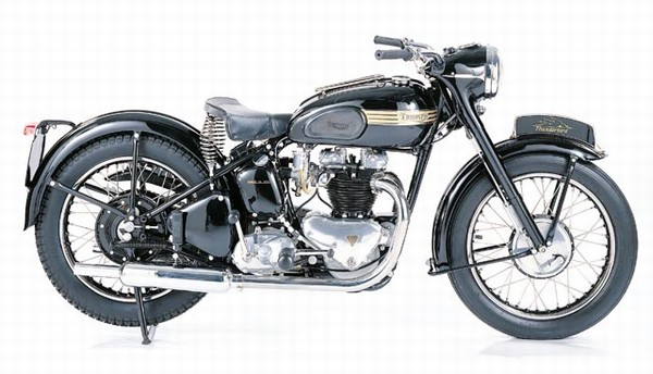 1953 Triumph Blackbird. Cold shower please.