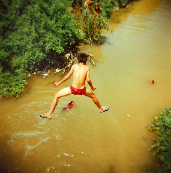 Cambodian border jump.