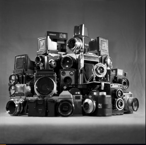 Analogue Exhibition - an exhibition which celebrates medium format film photography - a collection of  Black and White images taken with vintage and toy cameras.