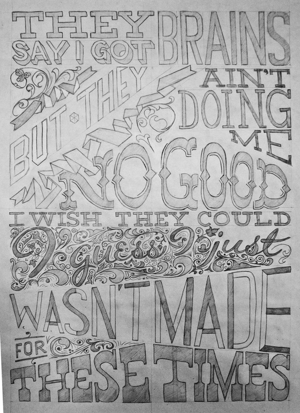 typeverything : Lettering Self Promo by  Spencer Charles .