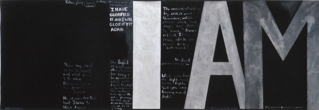 Colin McCahon. Painted in 1970. 207.5cm x 597.7cm. Saw this in the Christchurch Art Gallery in New Zealand and I never forgot it.