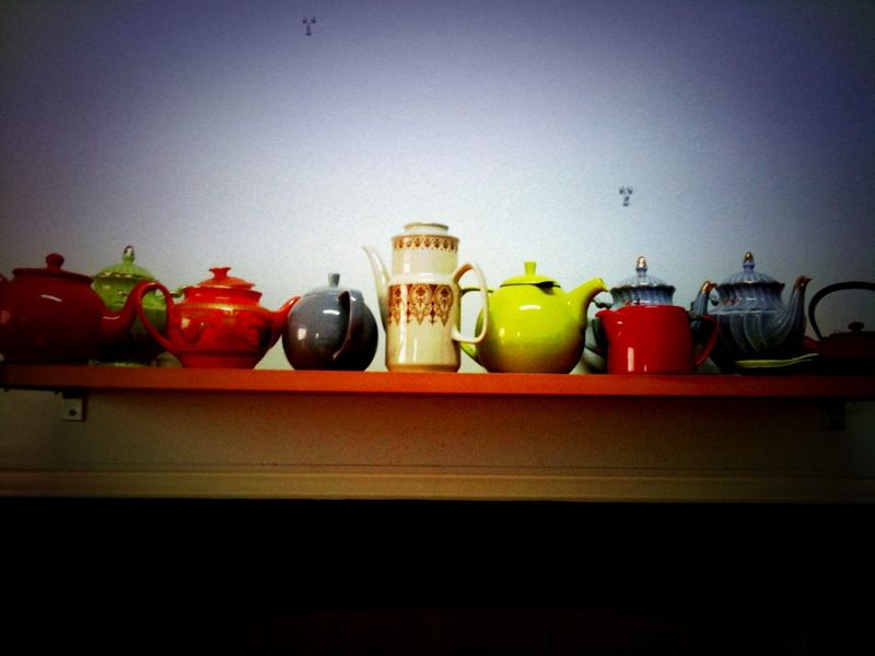 The house in the middle of the hill's kitchen collection. We like teapots. And tea.