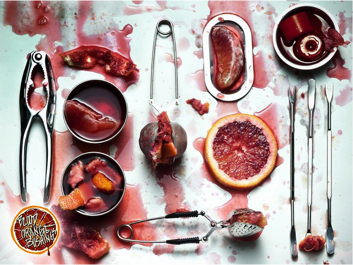 A very interesting and gory ad for Blood Orange Bushings by Caliber Truck Co. I like it.