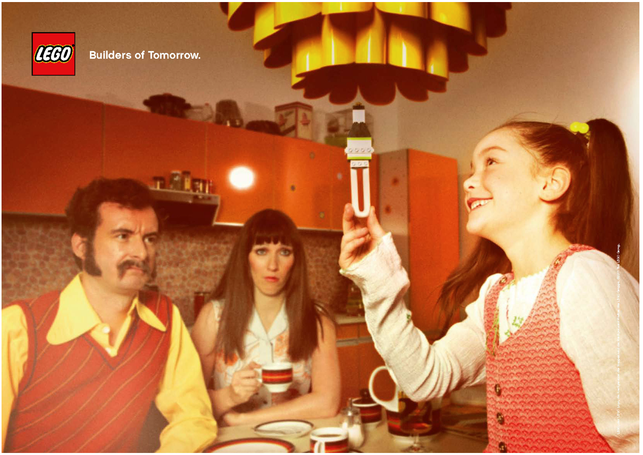 Loving the sixties, seventies and eighties-inspired art direction in these ads for Lego.