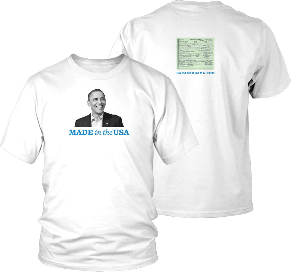 Donate $25 or more towards the Obama 2012 campaign, get a free tshirt. Hilarious.