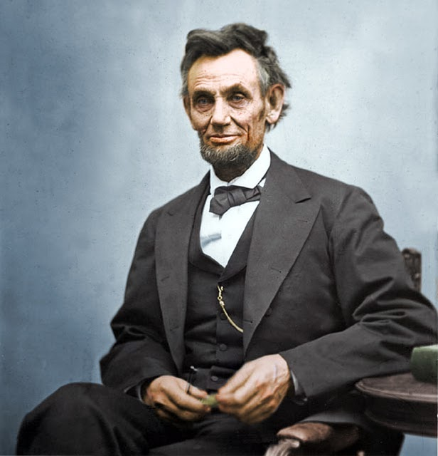 Colorized Abe.