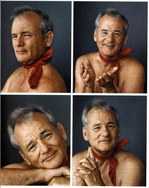 Isn't Bill Murray just GORGEOUS?!! Well, especially when painted like that…