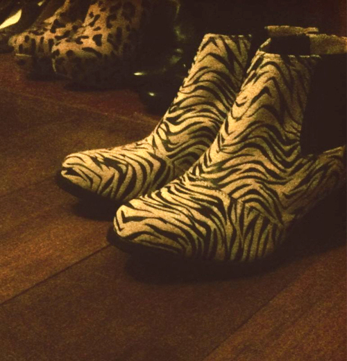 Do I have a secret passion for animal print boots? Yes'm, I do.