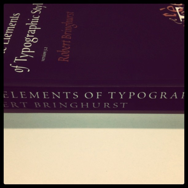 The bible of type.  (Taken with  instagram )