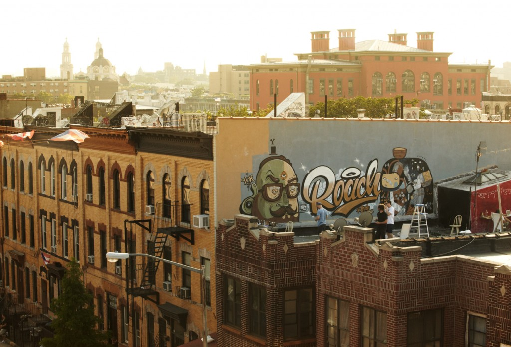 Yok, Creepy and Roach letting rip in Bushwick. (via  cluglife.com )