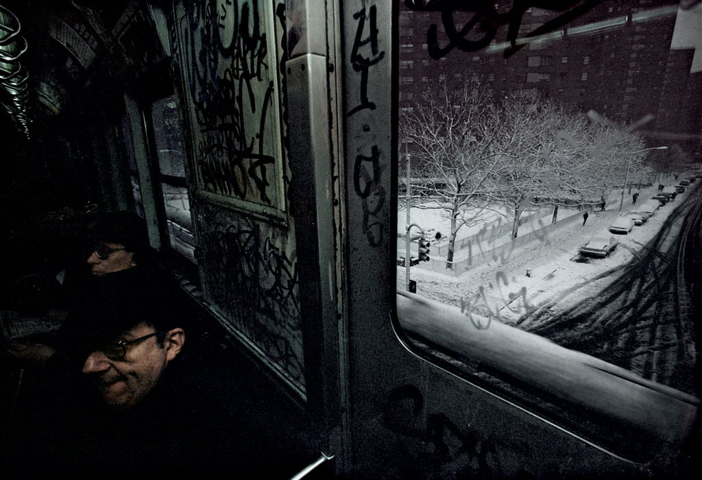 From  Bruce Davidson's  Subway   series