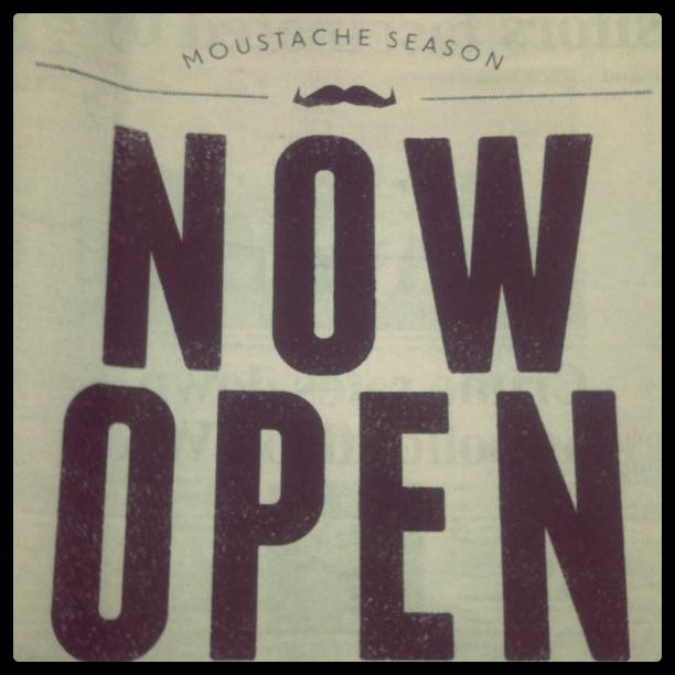 Moustache season now open #Movember