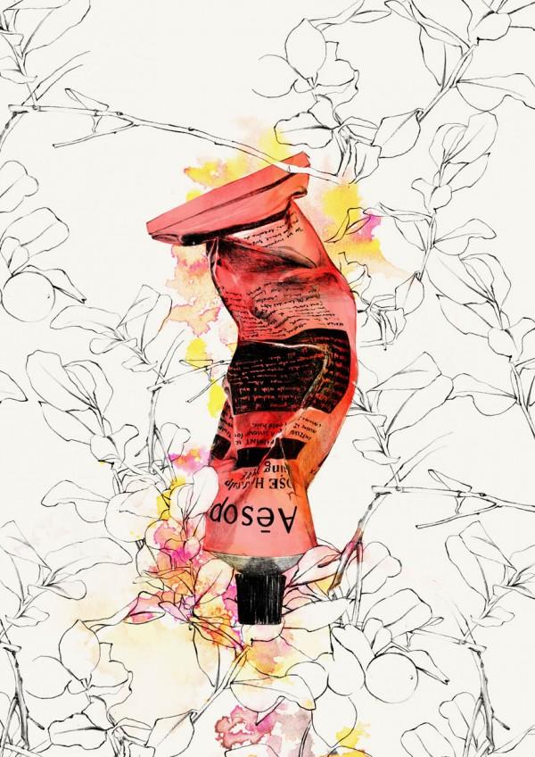 Spiros Halaris Aesop Inspired Beauty Illustrations
